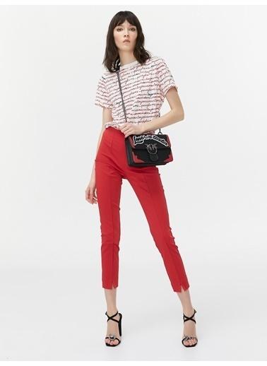 Twist Pantolon Kırmızı